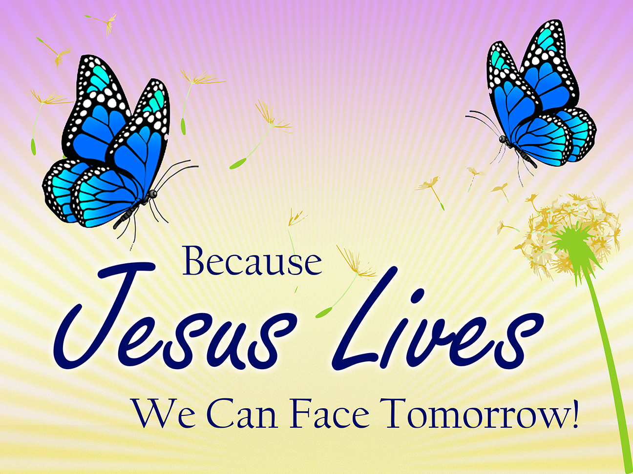 Because Jesus Lives Easter Poster